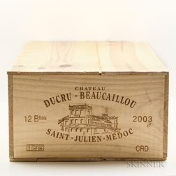 Chateau Ducru Beaucaillou 2003, 12 bottles (owc)