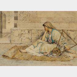 Clelia Bompiani Battaglia (Italian, 1847-1927)      The Gypsy Musician