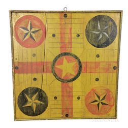 Polychrome Painted Pine Double-sided Game Board