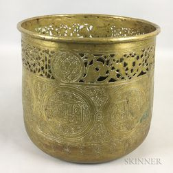 Pierced Brass Planter