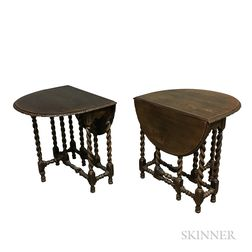 Pair of William and Mary-style Oak Gate-leg Tables