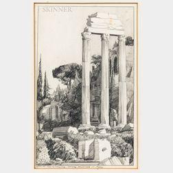 Robert Douglas Hunter (American, 1928-2014)      Roman Forum Looking Toward Palatine