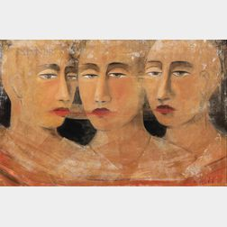 David Harouni (American, b. 1962)      Untitled (Three Faces)