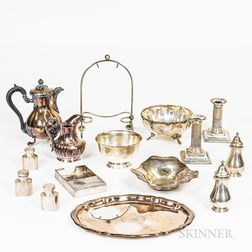 Group of Sterling Silver and Silver-plated Tableware