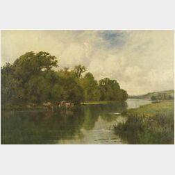 Henry H. Parker (British, 1858-1930)  On the Stort, Harlow, Essex