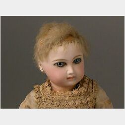 Small Early Portrait Jumeau Bisque Head Bebe