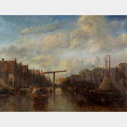 Antonie Waldorp (Dutch, 1803-1866)    Street View Near Amsterdam