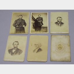 Six 19th Century Carte de Visites