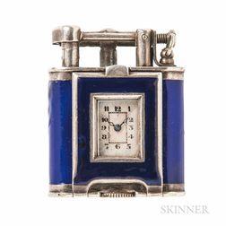 Art Deco Enamel Swing-arm Lighter Watch, Dunhill