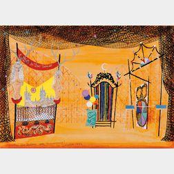 André Beaurepaire (French, b. 1924)      Set Design for the Carnival Scene from La Belle au Bois Dormant [La Belle Endormie]
