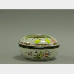 French Faience Covered Box