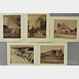 J.H. White (American, fl. Late 19th Century)      Five Photographs of Western Views