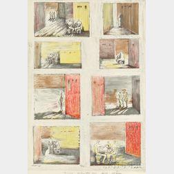 Henry Moore (British, 1898-1986)      Figures in Settings