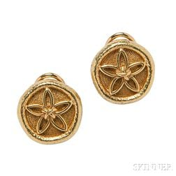 18kt Gold Earclips, Schlumberger for Tiffany & Co.