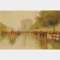 Andre Gisson (American, 1921-2003)      L'Arc de Triomphe