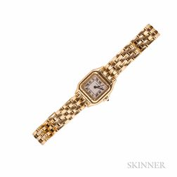 "Lady's 18kt Gold ""Panthere"" Wristwatch, Cartier"