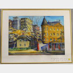 Charles Peter Demetropoulos (American, 1912-1976)      Boston Street Scene