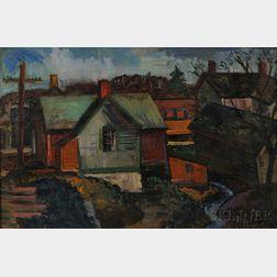 John Charles Haley (American, 1905-1991)      Taylor's Falls.