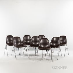 Ray (1912-1988) and Charles Eames (1907-1978) for Herman Miller DSS-N Stacking and Ganging Chairs