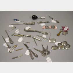 Group of Miscellaneous Small Sterling Silver Articles