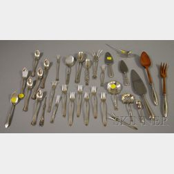 Assorted Silver and Silver Plated Flatware