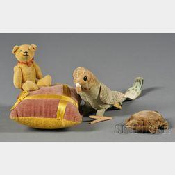 Three Small Stuffed Animals