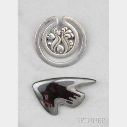 Two Sterling Silver Items, Georg Jensen