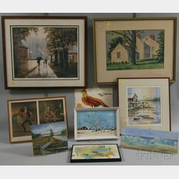 Large Collection of Framed and Unframed Artwork