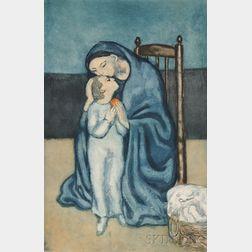 Jacques Villon (French, 1875-1963), After Pablo Picasso (Spanish, 1881-1973)      Maternité