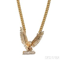 Little Jimmy Dickens     14kt Gold and Diamond Eagle Pendant