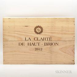 La Clarte de Haut Brion 2012, 6 bottles (owc)