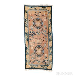 Rug with Floral Roundels and Scrolls