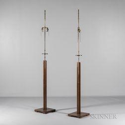 Pair of Tommi Parzinger for Parzinger Originals Floor Lamps