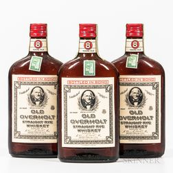 Old Overholt 11 Years Old 1951, 3 pint bottles Spirits cannot be shipped. Please see http://bit.ly/sk-spirits for more info.