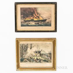 Three Small Framed Currier & Ives Lithographs