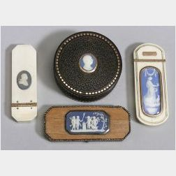 Four Wedgwood Mounted Boxes