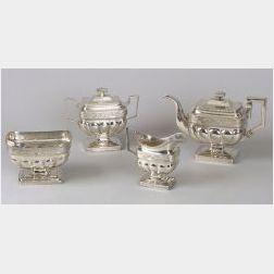 Classical Four-Piece Coin Silver Tea Service