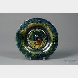 President James Garfield Memorial Pottery Plate