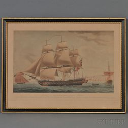 Robert Dodd (British, 1748-1816)      Portrait of an East Indiaman Sailing from Madras