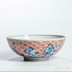 Underglaze Blue and Iron Red Bowl