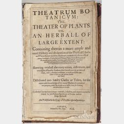 Parkinson, John (1567-1650) Theatrum Botanicum: the Theater of Plants.