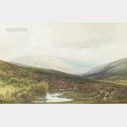 Frederick John Widgery (British, 1861-1942)    Hillside Landscape