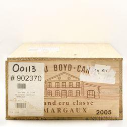 Chateau Boyd Cantenac 2005, 12 bottles (owc)