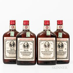 Old Overholt 11 Years Old 1951, 4 pint bottles Spirits cannot be shipped. Please see http://bit.ly/sk-spirits for more info.