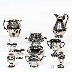 Ten Pieces of Silver Lustre Tableware