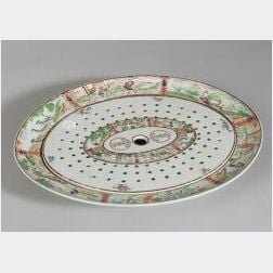 Chinese Export Porcelain Armorial Platter with Liner
