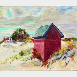 Manley Butler (American, 20th Century)    Brick House Amid the Dunes