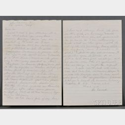 Oswald, Lee Harvey (1939-1963) Draft Letter Signed, [Minsk, Russia, 30 January 1962.]