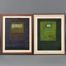 Hiroyuki Tajima (1911-1984), Two Color Woodblock Prints