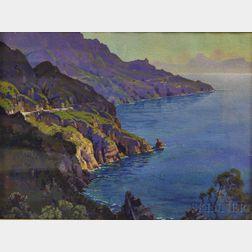 Hezekiah Anthony Dyer (American, 1872-1943)      Amalfi Drive, Bay of Naples